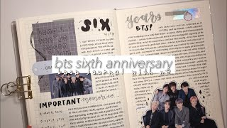 bts sixth anniversary! | kpop journal with me.