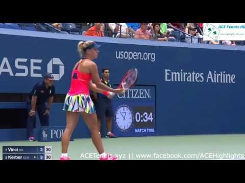Angelique Kerber vs Roberta Vinci - US Open 2016 Highlights