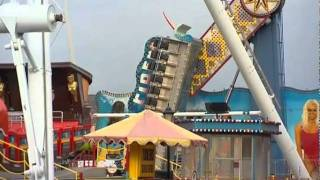 FIRE CREWS RESCUE 22 FROM FAIRGROUND RIDE IN SKEGNESS