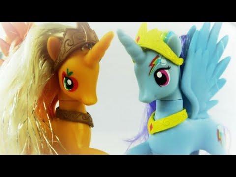 Rainbow Dash And Apple Jack Become Alicorn - MLP
