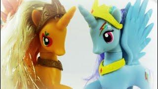 Rainbow Dash and Apple Jack become Alicorn Princesses! - MLP