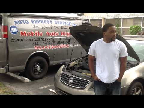 Mobile Auto Repair, Auto Express Service Inc., roadside service, Nissan Altima repair
