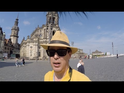 Dresden Old Town Travel Video Saxony Germany Europe
