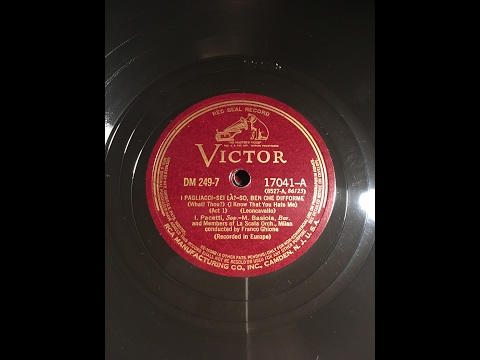 I PAGLIACCI - Gigli - La Scala 1934 in RESTORED SOUND