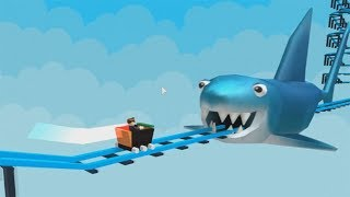 ROBLOX: THE OLD MAN WALKED ON THE ROLLERCOASTER AND WAS SWALLOWED BY A SHARK! -Play Old man