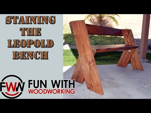 Project update - staining and finishing the Leopold bench