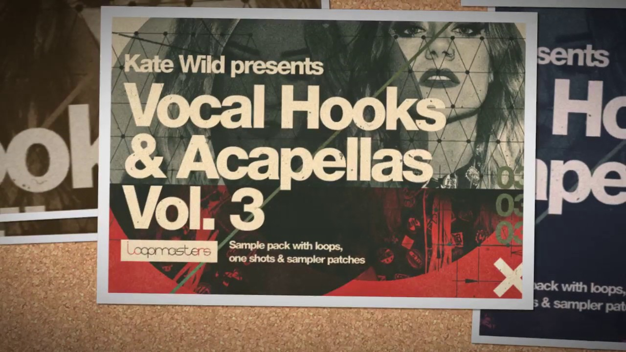 Kate wild vocal hooks acapellas vol 3 house vocal loops for Classic house vocal samples