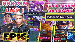 JUMPA RRQ XIN LIAM VS JUJU FANNY SOLO RANK SUPER MODE