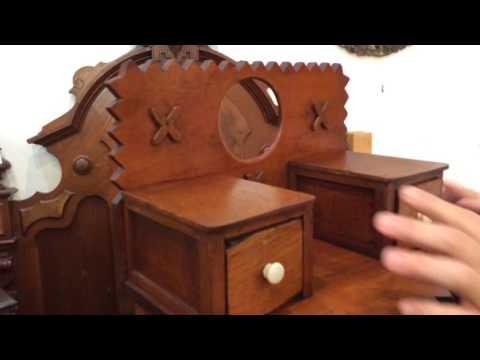 What is it? Antique salesman sample spice box or miniature dresser