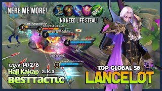 "You can ""Nerf"" Lancelot but not for Me! Dark Earl by Haji Kakap Top Global Lancelot S8 ~ MLBB"