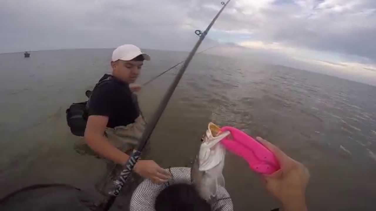East bay galveston wade fishing texas slam g youtube for Free fishing day texas