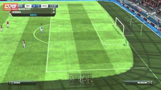 FIFA 13 Gameplay Man City vs Arsenal 2012 HD (PC)