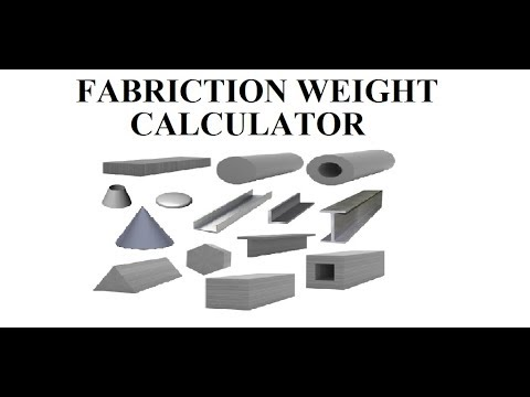 Fabrication weight Calculation of Shell, Cone, Dish ,Pipe Circle and other shapes