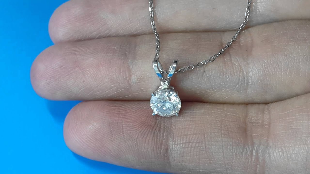 1 carat diamond pendant e si1 necklace chain solid 14k white gold 1 carat diamond pendant e si1 necklace chain solid 14k white gold round cut 17 aloadofball Image collections
