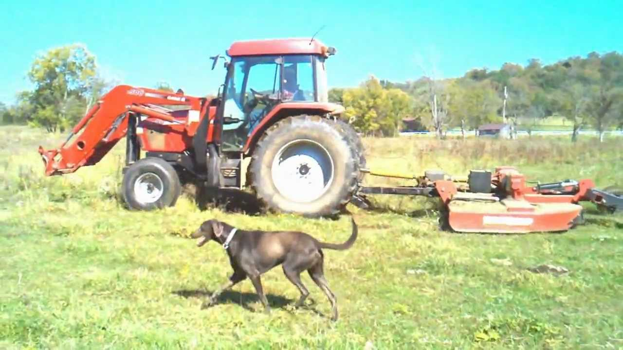 Case Ih Cx 90 Tractor With 10 Foot Bush Hog Youtube