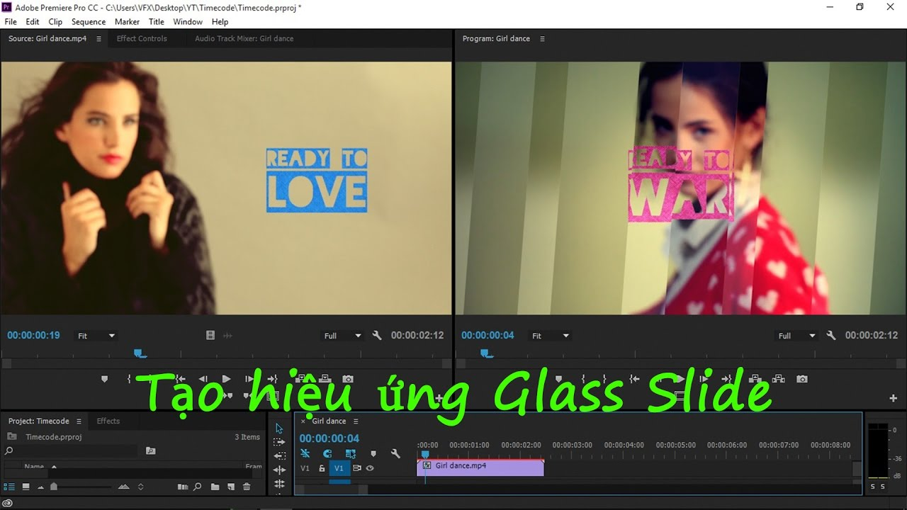 [Effect Premiere Pro] Bài 06_ Tạo hiệu ứng Glass Slide