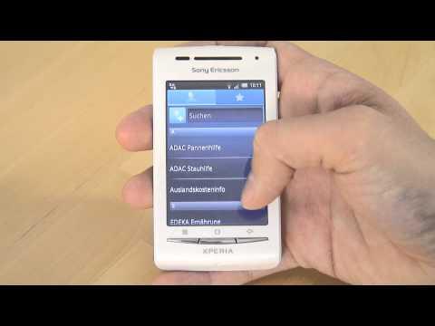 Sony-Ericsson Xperia X8 Test Bedienung