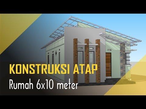 Desain Rumah Minimalis Ukuran 6x8  konstruksi atap rumah minimalis sederhana 6x10 meter 3 kamar