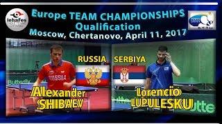 Alexander SHIBAEV vs Lorencio LUPULESKU ETTU Cup 2017 Moscow, Table Tennis