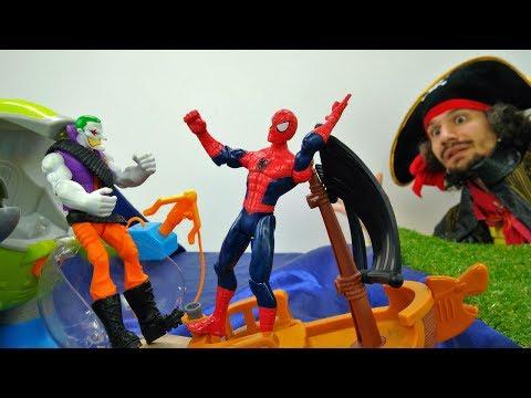 Удивительный Человек-паук катается на ТАНКЕ | Игра для Мальчиков - Потешки для детей - Мультик Игра
