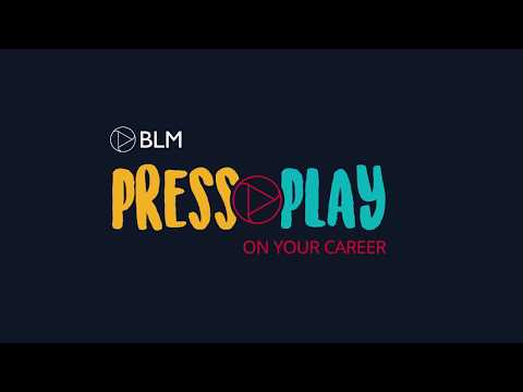 Press play on your career - a day in the life of a BLM trainee