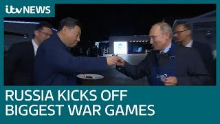 Russia and China join forces for huge war games | ITV News