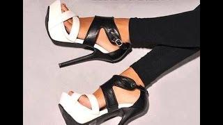 ЖЕНСКИЕ БОСОНОЖКИ на КАБЛУКЕ - 2019/WOMEN-heeled Sandals/FRAUEN-Sandaletten. Красивое Видео Девушки Ножек Женских
