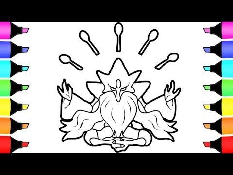 Coloring Pages Pokemon Mega Alakazam