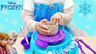 エルサ 陶芸セット コップ作り ディズニー / Frozen Elsa Pottery Wheel Toys : DIY thumbnail