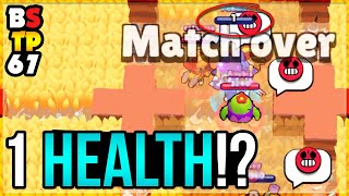 WOW! SHE SURVIVED WITH 1 HEALTH!? Top Plays in Brawl Stars #67