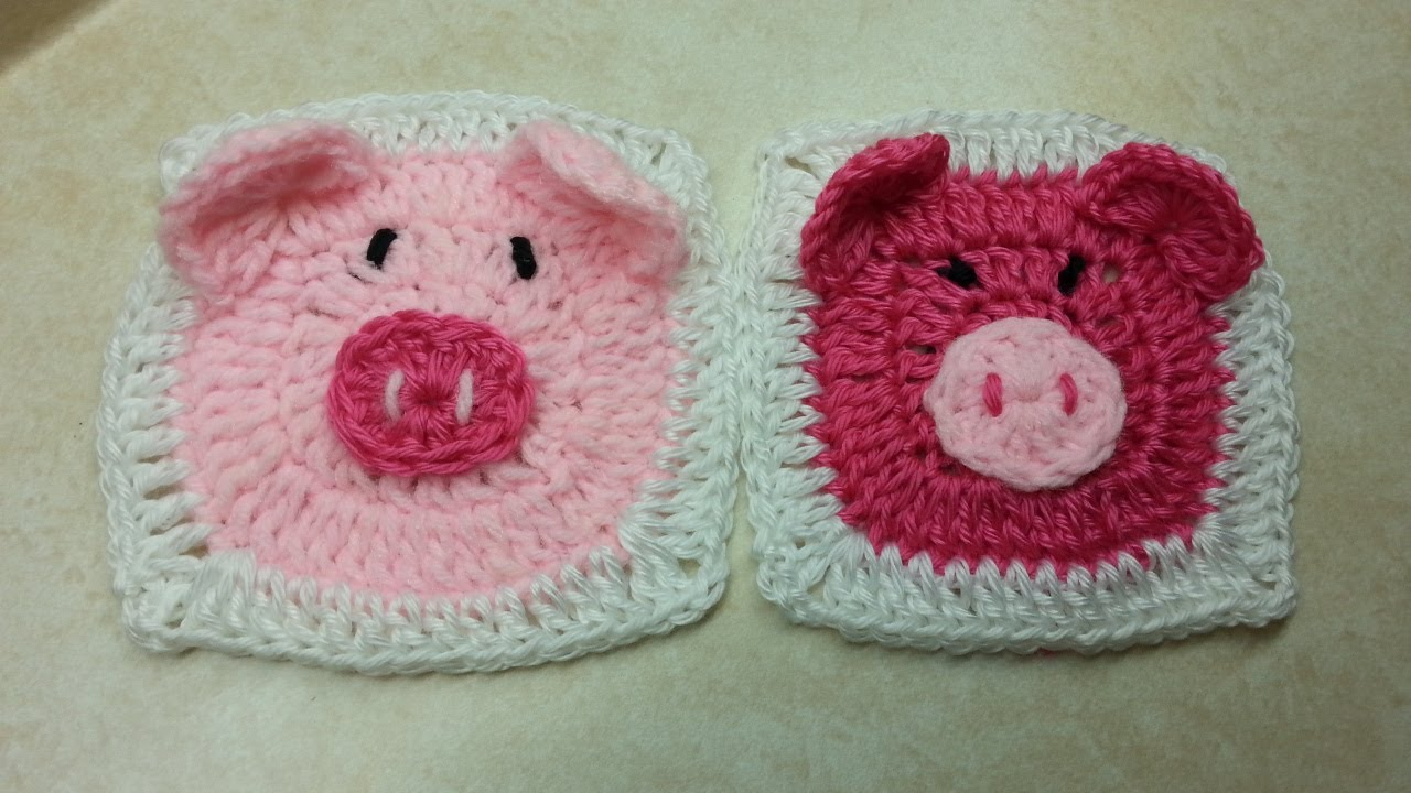 CROCHET How to #Crochet Cute (PIGGY GRANNY SQUARE) #TUTORIAL #95 ...