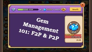 Idle Heroes Gem Management 101: For BOTH F2P & P2P Players!!