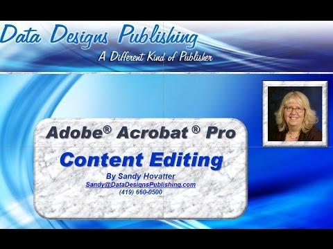 Adobe Acrobat Pro Content Editing Features