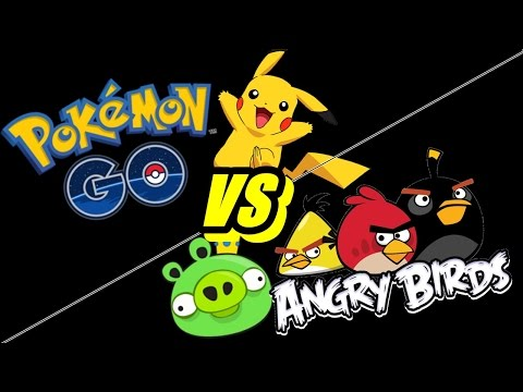 Pokemon GO Vs Angry Birds. Mobile Game Battle 2016. This Vs That.