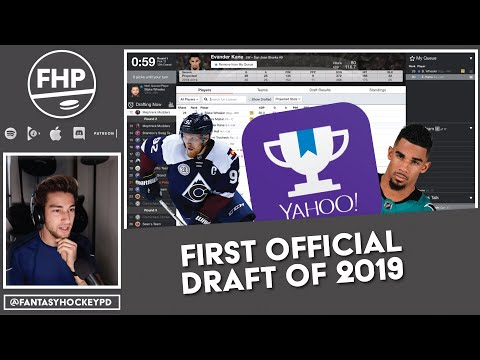 First Official Fantasy Hockey Draft Of 2019