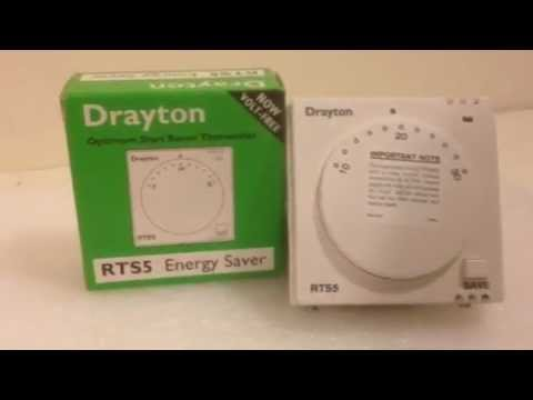 Room Thermostat Wiring Diagram Blank Heart Worksheet Drayton Rts5 Energy Saver - Youtube