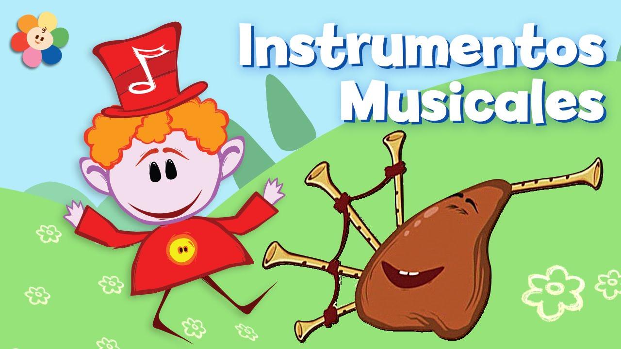 Caricaturas De Música Para Niños Instrumentos Musicales El Banjo