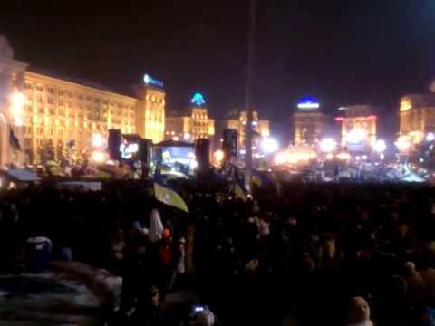 Пісня про Януковича з львівського Євромайдану на київському Євромайдані