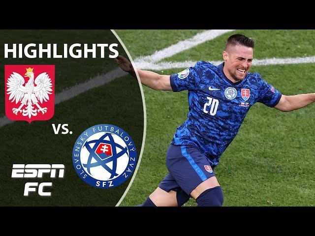 Slovakia NUTMEG leads to goal as Poland suffer 2-1 defeat in Euro 2020 | Highlights | ESPN FC