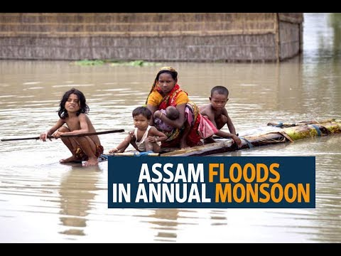 India's Assam state floods in annual monsoon