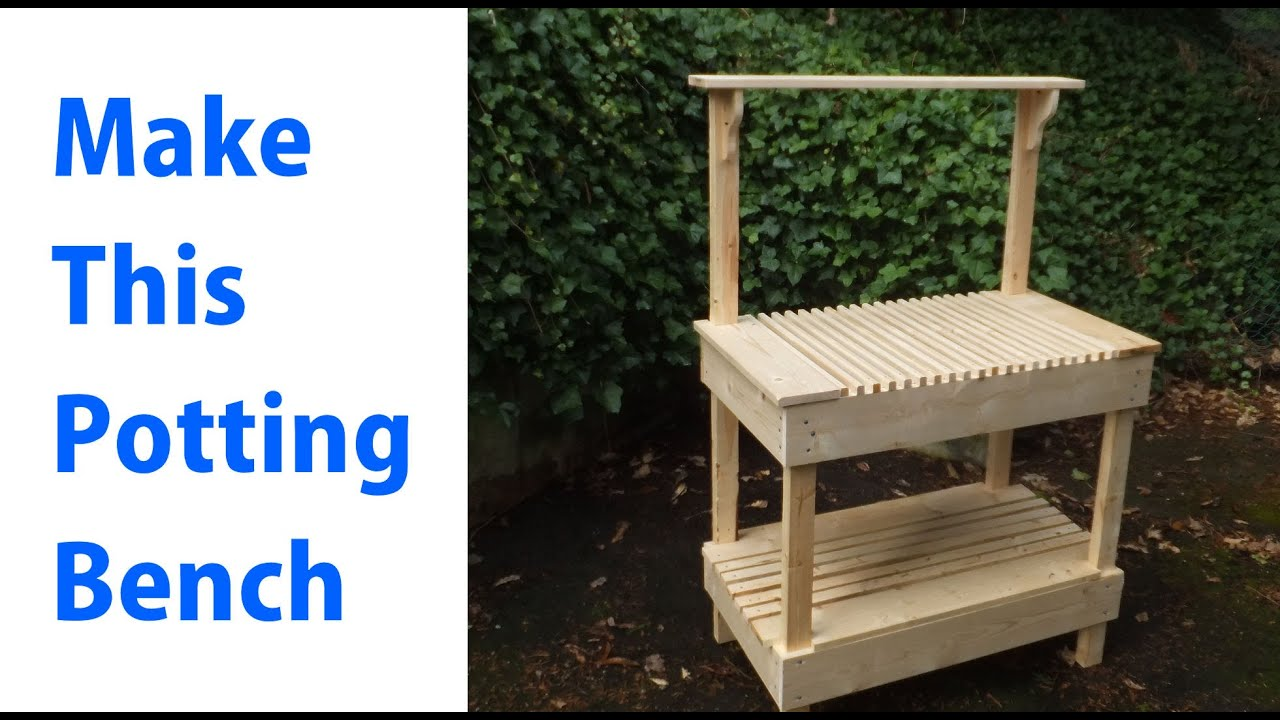 How To Build A Outdoor Potting Bench Woodworkweb Youtube