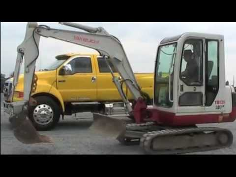 takeuchi tb135 mini excavator cab youtube. Black Bedroom Furniture Sets. Home Design Ideas
