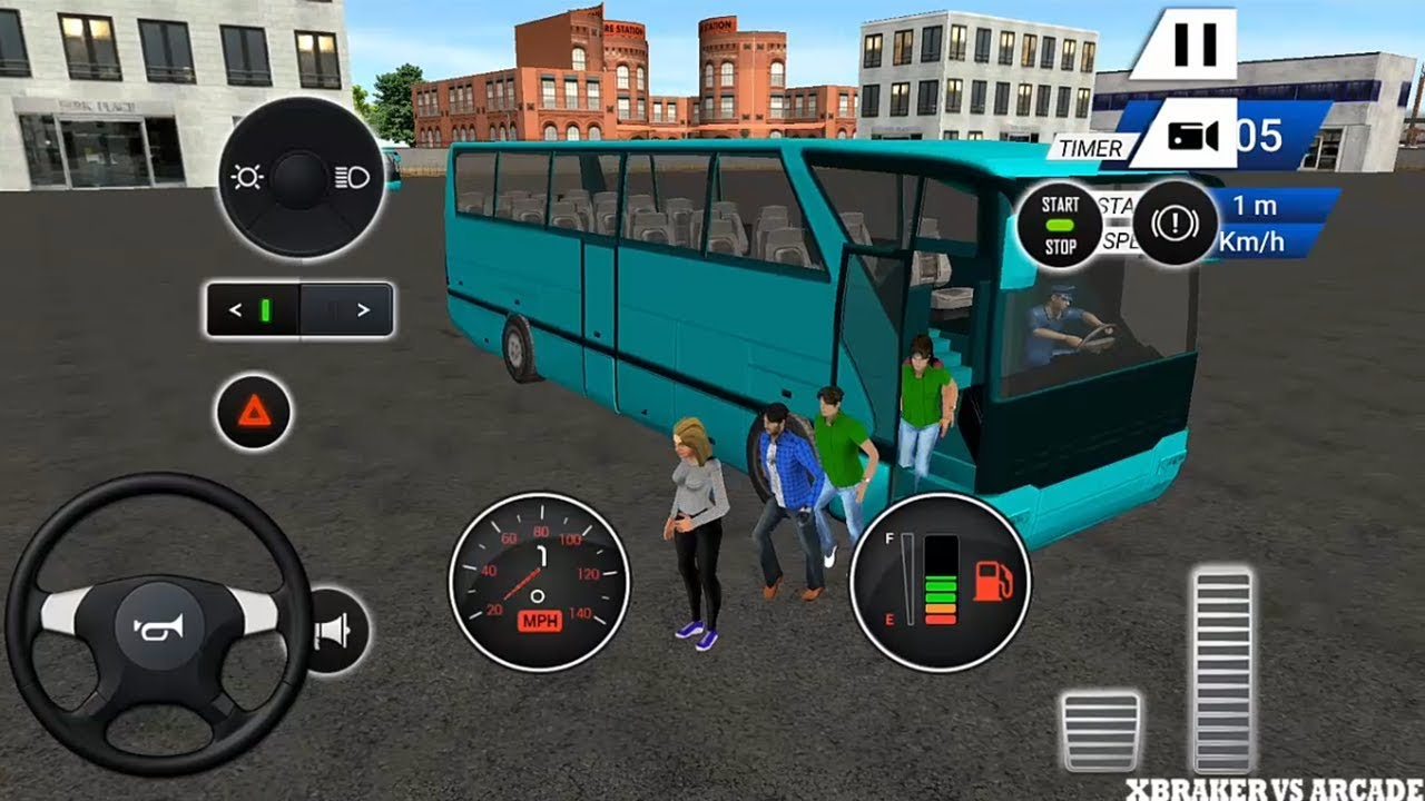 Euro Bus Driving Simulator : All Vehicles Unlocked |  Wheels On The Bus  - Android GamePlay FHD
