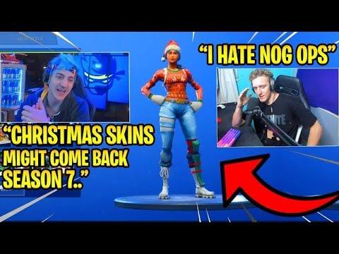 All Fortnite Rare Christmas Skins Confirmed Coming Back Nog Ops Elf