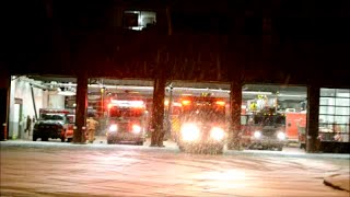 MONTREAL FIRE TRUCKS ROLL OUT OF STATION 65