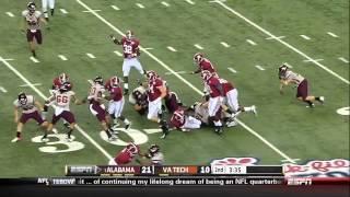 Alabama - Christion Jones Highlights Vs Virginia Tech