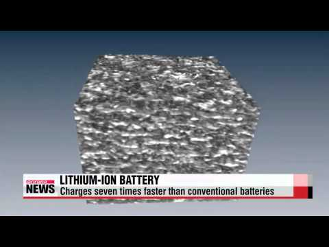 Korean researchers develop lithium-ion battery that charges 7 times faster   충전