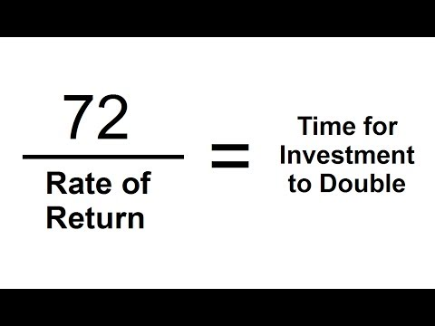 The Rule of 72 - TRICK To Calculate When Investments Double