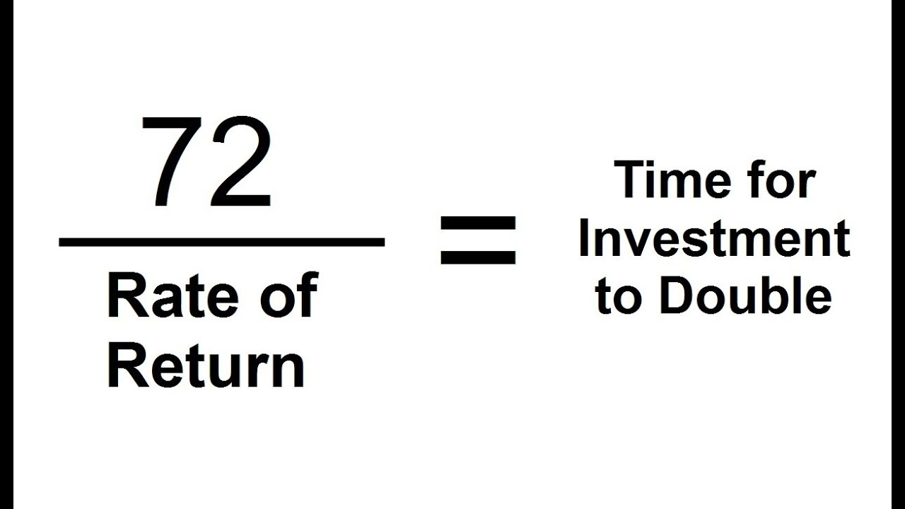 The Rule Of 72 Trick To Calculate When Investments Double Youtube