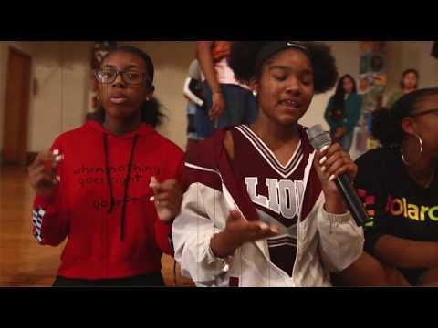 Mumu Fresh visits Binford Middle School